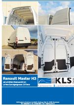 Prospekt Renault Master H3 erhöhte Rückwandtüren